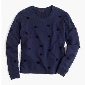 J. Crew Pom Pom Sweatshirt